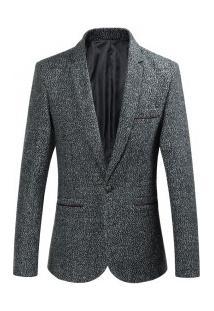 Blazer Masculino Elegante Design Slim - Cinza