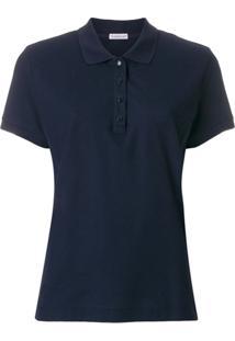 Moncler Camisa Polo Slim - Azul