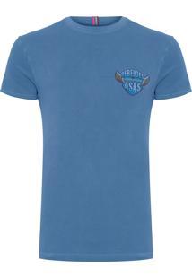 Camiseta Masculina Estampada Rebelde - Azul