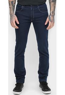 Calça Jeans Skinny Rockblue Lavagem Média Masculina - Masculino