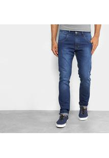 Calça Jeans Skinny Rock & Soda Estonado Suave Masculina - Masculino