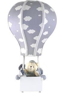 Abajur Balãozinho Cintura Urso Nuvem Cinza Quarto Bebê Infantil Menino Menina - Kanui