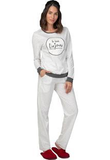 Pijama Comfort Look Dujour - Lua Luá - Branco