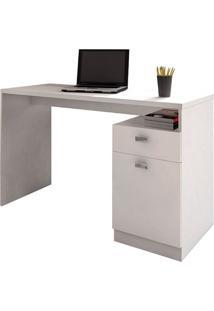 Escrivaninha Delta 01 Porta Benetil Móveis -Branco
