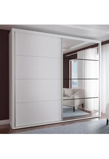 Guarda-Roupa Casal 2 Portas Com 1 Espelho 100% Mdf 1911E1Sa Branco - Foscarini