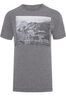 Camiseta Masculina Vintage Rio De Janeiro - Cinza