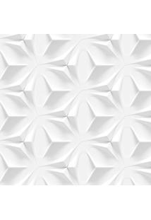 Papel De Parede Stickdecor Adesivo Textura Branca 3D 3Mt A 1,00Mt L