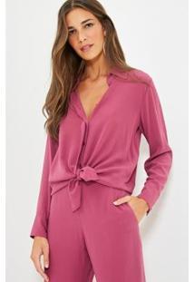 Camisa Ateen Seda Inverno - Feminino-Rosa
