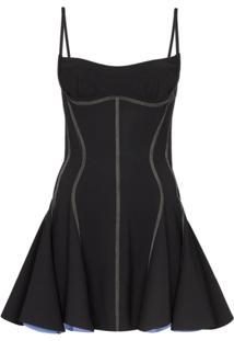 Mugler Bustier-Style Stitched Mini Dress - Preto