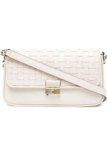 Michael Michael Kors Bradshaw Woven Leather Shoulder Bag - Neutro