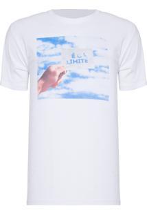 Camiseta Masculina Estampada É O Limite - Branco