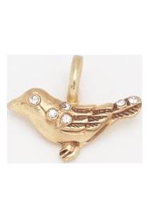 Pingente Little Bird Com Pedrarias Banhado Á Ouro 14K- Iguerreiro