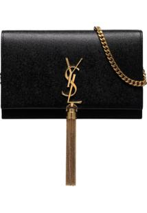 Saint Laurent Kate Tassel Shoulder Bag - Preto