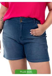 Shorts Com Bolso Azul Cativa Mais