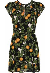 Reformation Vestido Deven Mangas Curtas - Clz Clementine