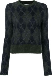 Victoria Beckham Suéter Decote Arredondado - Verde