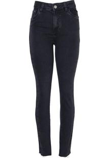 Calca Paula Skinny Folder (Jeans Black Medio, 42)