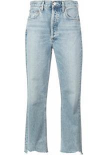 Agolde Calça Jeans Cropped Riley - Azul