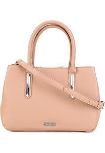 Bolsa Santa Lolla Handbag Risco Feminina - Feminino-Marrom Claro