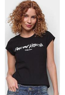 Camiseta Coca Cola Pause And Refresh Feminina - Feminino-Preto