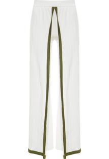 Calça Feminina Pantalona Tricot - Branco