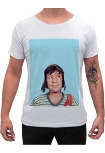 Camiseta Impermanence Estampada Chaves Masculina - Masculino-Branco