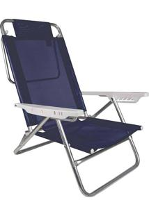 Cadeira Reclinável Mor Summer, Alumínio, Azul Royal - 2105