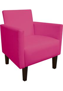 Poltrona Decorativa Compacta Jade Corino Pink Com Pés Baixo Chanfrado - D'Rossi