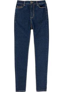 Calça Jeans Feminina Super Skinny Com Elastano Azu