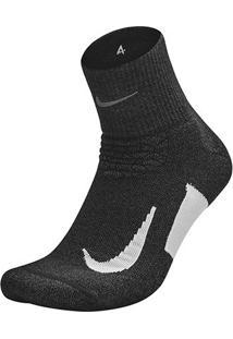 Meia Nike Cano Médio Dri-Fit Elite Cushion - Unissex-Preto
