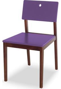Cadeira Flip Cor Cacau Com Roxo - 30827 - Sun House