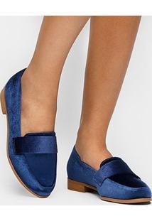 Mocassim Shoestock Veludo - Feminino
