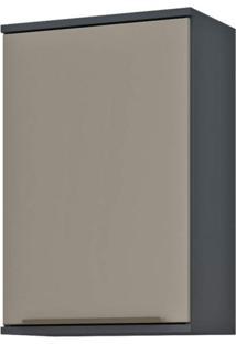 Armário Aéreo Modulado 1 Porta 40Cm Verace Siena Móveis Titanio/Taupe