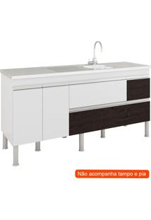 Balcão De Cozinha Prisma 3 Pt 3 Gv Branco E Café