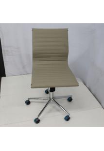 Cadeira Office Outlet Estofada Baixa Fendi Sem Bracos Cromada - 10 - Sun House
