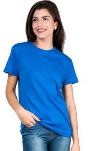 Camiseta Part.B T-Shirt Algodão Tee Feminina - Unissex-Azul Royal