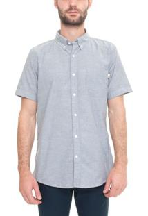 Camisa Manga Curta Pleasant River Oxford
