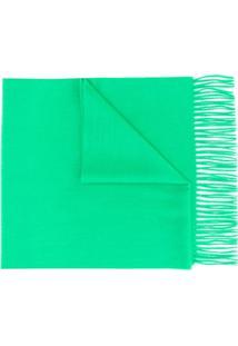 N.Peal Cachecol De Cashmere Grande - Verde
