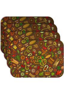 Jogo Americano - Love Decor Mexican Cuisine Kit Com 4 Peças