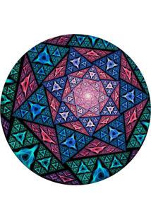 Tapete Love Decor Redondo Wevans Vitral Multicolor 84Cm - Azul - Dafiti