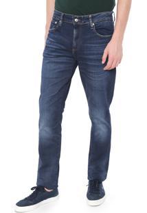 Calça Jeans Lacoste L!Ve Skinny Estonada Azul