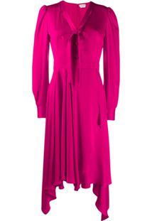 Alexander Mcqueen Asymmetric Draped Dress - Rosa