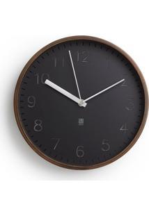 Relógio De Parede Ou Mesa Rimwood 27 Cm Nogueira Envelhecida