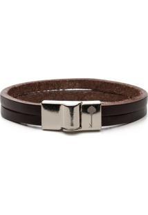 Pulseira Key Design - Huerta Silver Brown - Masculino-Marrom