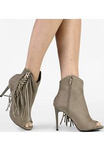 Ankle Boot Zatz Corrente Franjas - Feminino