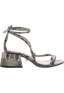 Sandália Chunky Heel Lace-Up Python | Schutz