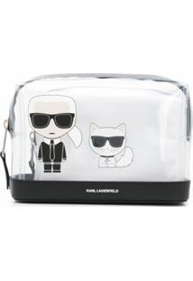 Karl Lagerfeld Nécessaire K/Ikonik Transparente - Branco