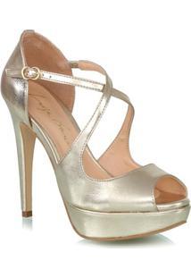 Sandália Ouro Metalizado Meia Pata
