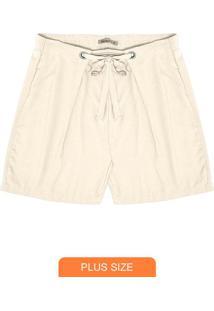 Shorts Feminino Plus Size Bege