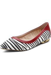 Sapatilha Violanta Vermelha Zebra